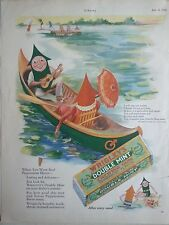 1928 Wrigley's Double Mint Chewing Gum Mother Goose Up to Date Poem Color Ad