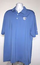 Mens Nike Golf VW Volkswagen Polo shirt XL embroidered logo blue Dri Fit