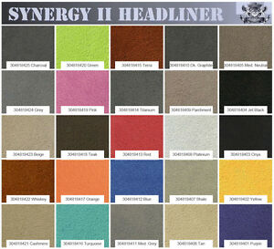 """Synergy Suede Headliner Fabric 1/8 Foam Backed 60"""" Wide Sold By The Yard"""