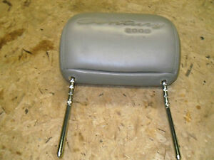 OEM 00 Buick Century Limited Tan Leather Front Seat Adjustable Head Rest w/Logo