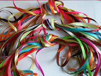 10 x 1 metre assorted satin, organza, grosgrain ribbon 3mm 6mm 12mm mixed UK VAT