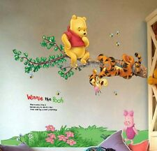 Removable Winnie The Pooh With Tigger Wall Stickers Nursery Girls Boys Kids Room