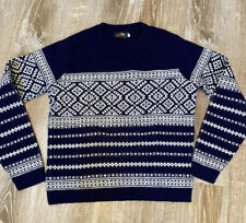 Vintage Alps Knitmeister Norwegian Wool Navy White Sweater Size XL?