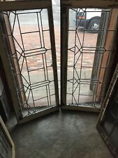 Sg 1335 2Available Price To Each Antique Leaded Glass Transom Window 19.5 X 44.5