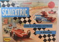 CATALOGO SCALEXTRIC IN MINIATURA Corse di automobili elettriche Tri ang 1963 di