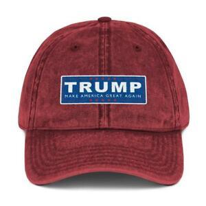 Trump Make America Great Again Campaign Hat Vintage Cotton Twill Baseball Cap