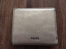 WEEKEND SALE! NWT Fossil Emma RFID Leather Bifold Mini Wallet -Taupe Metallic