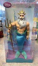 "RARE! Disney Store Little Mermaid KING TRITON Classic Doll 13"" BRAND NEW NIB"