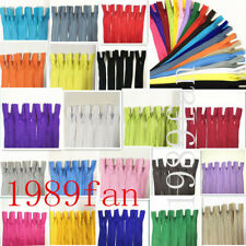 12-20inch invisible nylon coil zipper for bulk sewing process 20pcs (20 color)