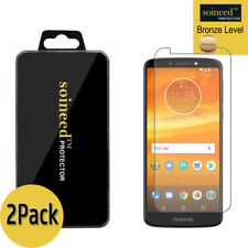 2-pack Soineed Tempered Glass Screen Protector Film for Motorola Moto E5 Plus