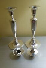 """Gorgeous Pair 1907-1938 594gr TIFFANY SOLID STERLING 9 1/2"""" CANDLESTICKS"""