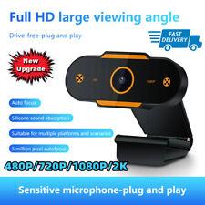 USB 2.0 cámara web de enfoque automático cámara web HD Cam Micrófono para PC Laptop Escritorio
