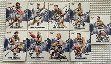 GEELONG CATS SIGNED 2017 TRADING CARDS X9