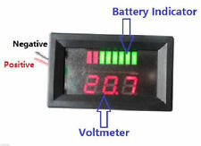 36volt Charge Meter + Voltmeter Acid Lead Battery Indicator LED EZGO Club Car
