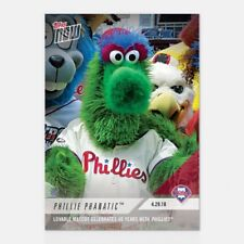 2018 TOPPS NOW #143 PHILLIE PHANATIC MASCOT CELEBRATES 40 YEARS WITH PHILLIES
