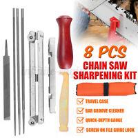 8PCS Chain Saw Sharpening Kit Chainsaw Sharpener File Guide Bar Depth Gauge