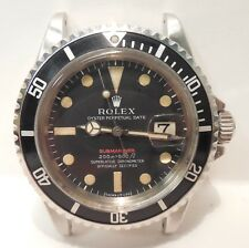 Vintage-Rolex-Red Submariner-Oyster Perpetual-Date-1680-Stainless-Watch Head