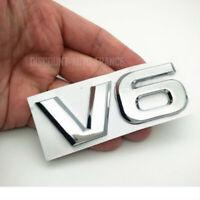 LOGO EMBLEME V6 Emblem 3D Logo CHROME Auto Aufkleber Tuning Sticker Metall