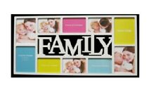 Picture Frame Plastic Large White Family Collage Wall Hanging 10 Photos Display