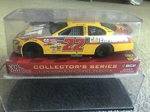 WARD BURTON CATERPILLAR Yellow Silver Chrome Race Car #22 1/24 COLLECTORS SERIES