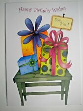 """""""HAPPY BIRTHDAY WISHES FOR YOU!"""" GREETING CARD + DESIGNER ENVELOPE"""