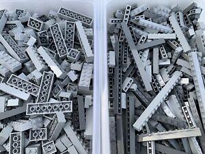 LEGO - 2x2 2x3 x6 1x3 1x4 x6 /25 Grey Pieces From Each Box / 50 Pieces Per Order