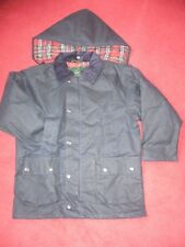 CHILDRENS NAVY WAX  COAT/JACKET RIDING/WALKING/SCHOOL WEAR  AGE 2/3 years