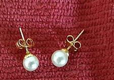 BOUCLES D'OREILLES Perles, fermoirs dorés (bijou fantaisie)