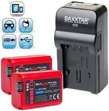 Baxxtar ® RAZER 5in1 Ladegerät + 2x Baxxtar Akku für Sony NP-FW50 NEX SLT ALPHA