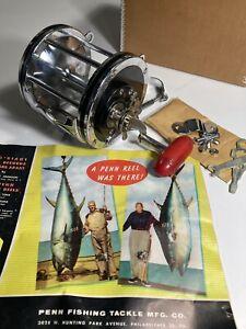 Vintage New 1960 Penn Senator 115L 9/0 Big Game Saltwater Reel . Clamp + Catalog