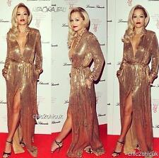 Emilio Pucci Gold Sequin Gown Dress UK6-8 IT38