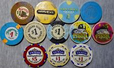 7 Casinos in Lake Tahoe, Reno and North Las Vegas, NV - 12 Chips - Great Variety