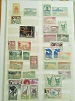 FRANCE AND COLONIES REUNION MARTINIQUE, OVERPRINTS, GOOD LOT INCL. UNUSED