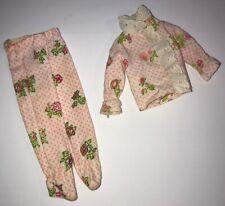 1973 Skipper Get-ups 'N Go Footed Pajamas 7713 Vintage Preowned
