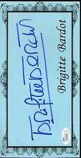 BRIGITTE BARDOT SIGNED JSA 5X9 DISPLAY PIECE AUTHENTIC AUTOGRAPH