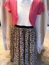 EUC Girls Faded Glory L 10/12 Leopard Dress