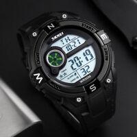 Mode Herren Sport Uhr Armee Armbanduhr Wasserdicht Digital LED Uhren 2018