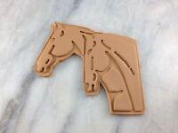 Horses Head Cookie Cutter 2-Piece, Outline & Stamp #2 Double