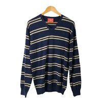 RM WILLIAMS Men's Striped Pullover Jumper Size M Long Sleeve 100% Cotton