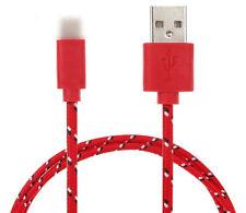 Ladekabel Datenkabel Kabel iPhone5/6/7 Handy Nylon Kordel Rot