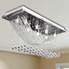 vidaXL Plafondlamp met Kristal Kralen Glas Wit Hanglamp Verlichting Lamp Licht