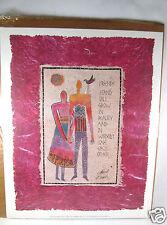 "Laurel Burch Paper Print Art Friends Wisdom Global Spirit Vintage 7.5""X 9.5"""