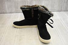 TOMS Vista Water-Resistant Suede Winter Boots, Women's Size 9.5, Black