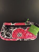 Vera Bradley Cheery Blossoms Wristlet Purse With Red Lining 14558-170