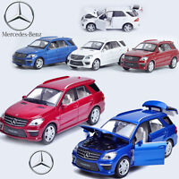1:32 Mercedes Benz ML 63 Diecast Model Car Kid Metal Pull Back Vehicle Toy Decor