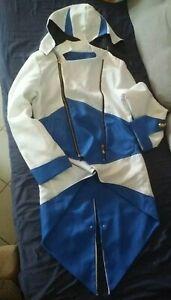 Connor Jacke Anzug Assassin's Creed Cosplay Mantel Weiß Blau