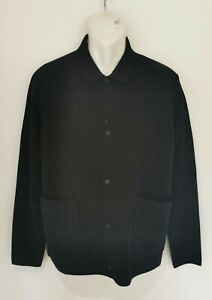 BNWT MENS COS NAVY 100% WOOL JERSEY/KNITTED JACKET. SIZE LARGE. RRP £89.00