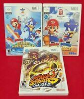Mario Sonic Olympic Winter, Summer, & Soccer Strikers Lot Nintendo Wii * Wii U