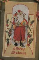 Old Fashioned Santa Christmas Cross Stitch Pattern from a magazine Antique Santa