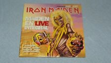 RARE CD IRON MAIDEN EN LIVE INTEGRAL + 5 COVERS HARD HEAVY métal concert VG++